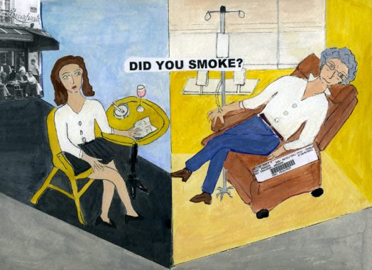 Nancy K. Miller. Did you smoke?